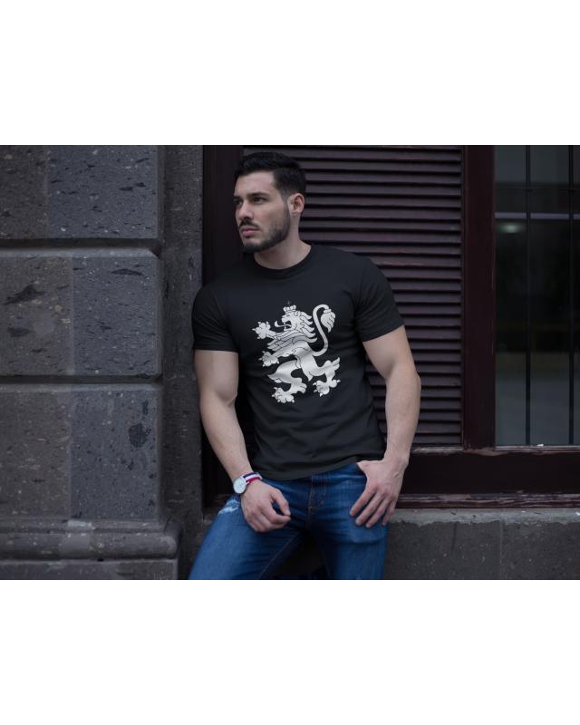 Мъжка тениска - България - черна