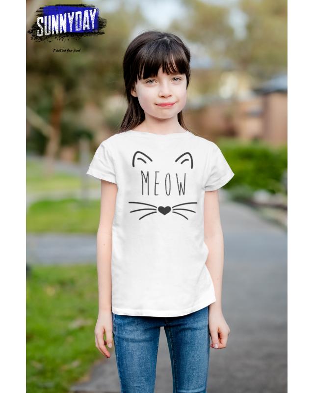 Детска тениска- Meow