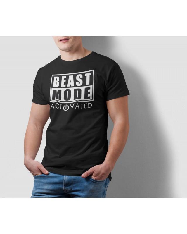 Мъжка тениска - Beast MODE ON - черна