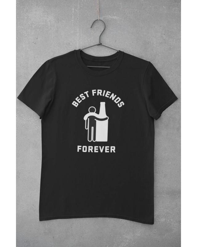 Мъжка тениска - Best Friends - черна