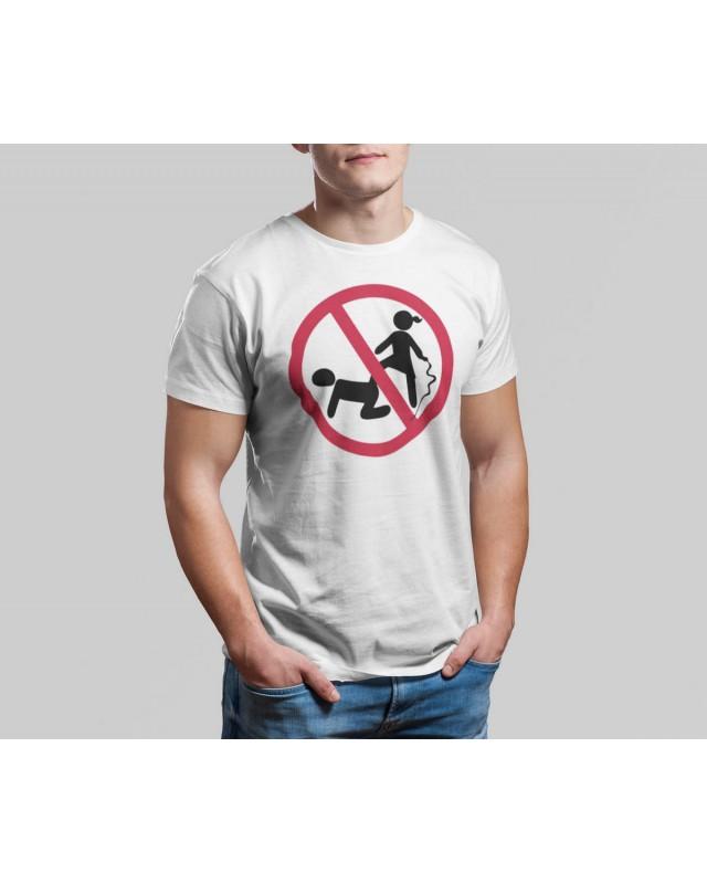 Мъжка тениска - Тормоз - бяла