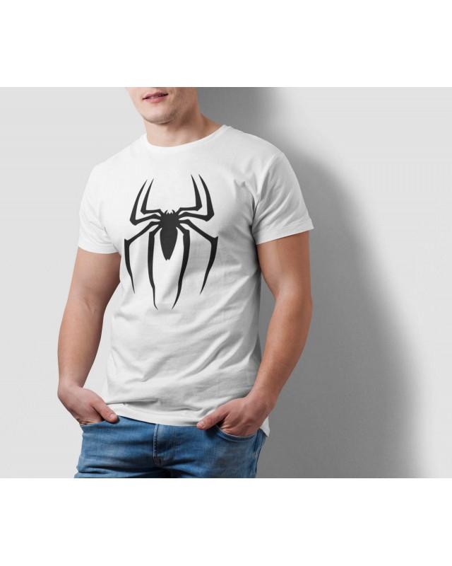 Мъжка тениска - Spider в бяло