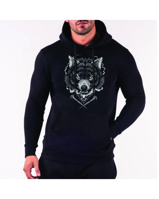 Черен суичър -  Wolf