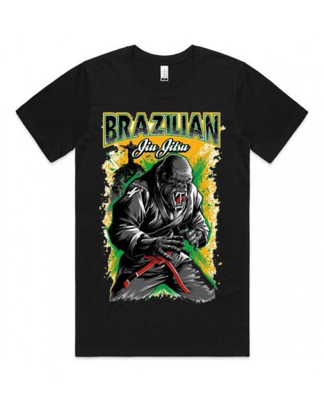 Черна тениска - Brazillian Jiu Jitsu