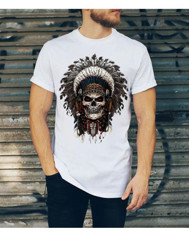 Тениска- Skull (бяла)