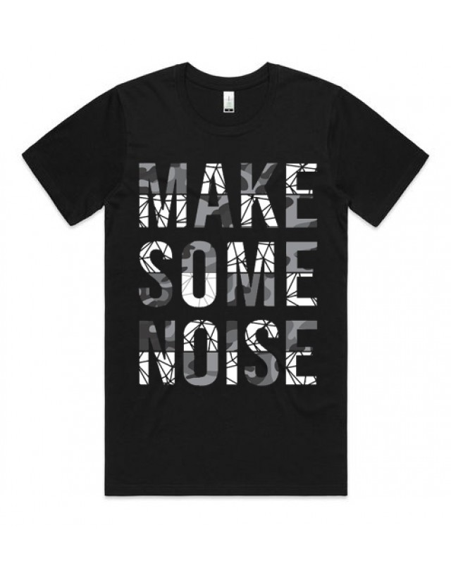 Черна тениска - Make some noise