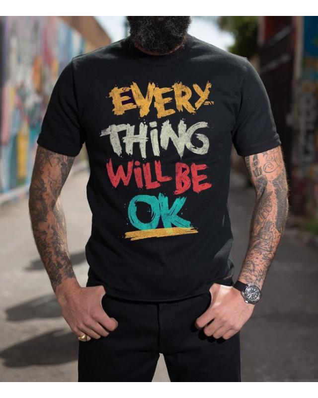 Черна тениска - Will be OK