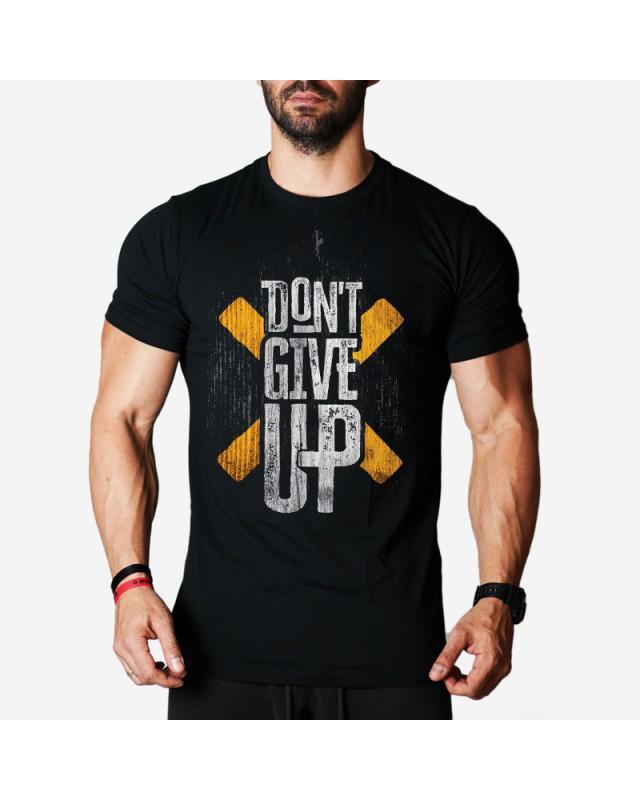 Мъжка тениска - Don't give UP -черна