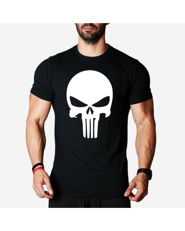 Мъжка тениска - Punisher - черна