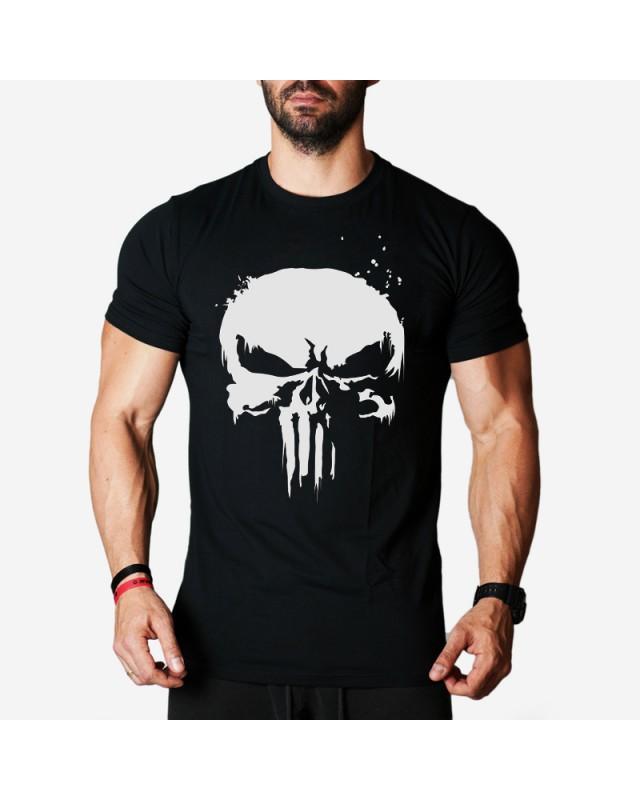 Мъжка тениска - Punisher NEW - черна